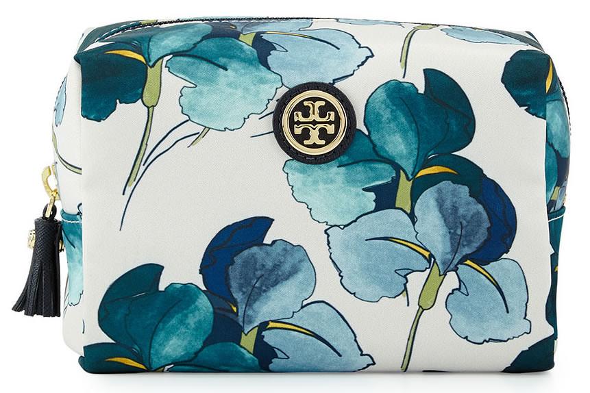 Tory Burch Brigitte Floral-Print Cosmetic Case