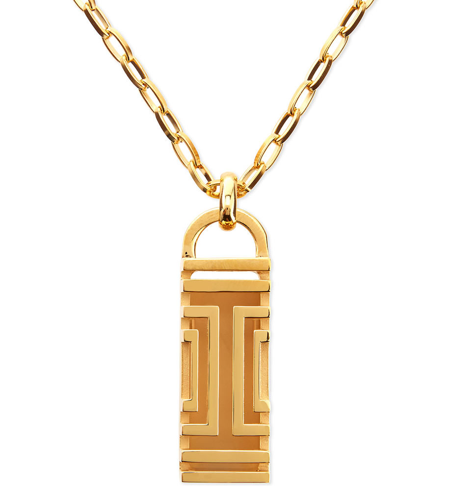 Tory Burch Golden-Plated Fitbit-Case Pendant Necklace