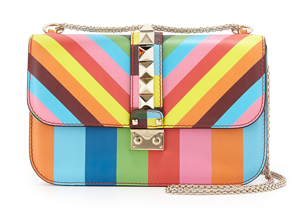 Valentino 1973 Lock Rainbow Shoulder Bag