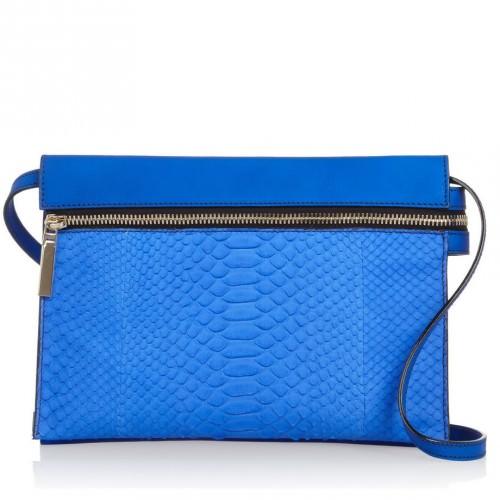 Victoria Beckham Python and Leather Shoulder Bag