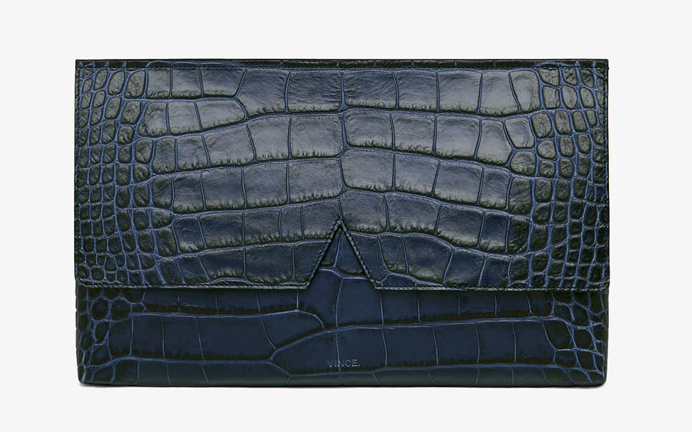 Vince-Signature-Collection-Croc-Stamped-Clutch