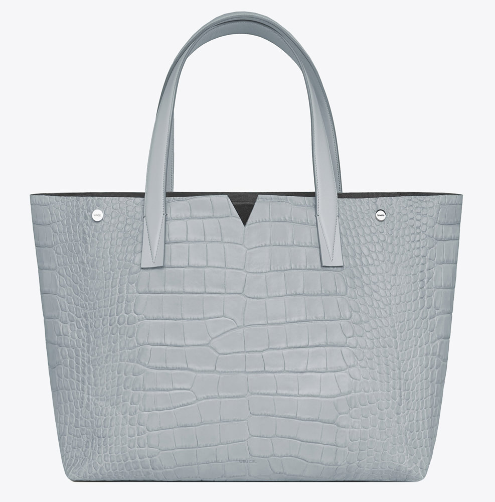 Vince Signature Collection Croc-Stamped EW Tote