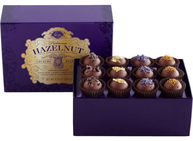 Vosges Piemonte Hazelnut Milk Chocolate Crunchy Pralines Bonbons