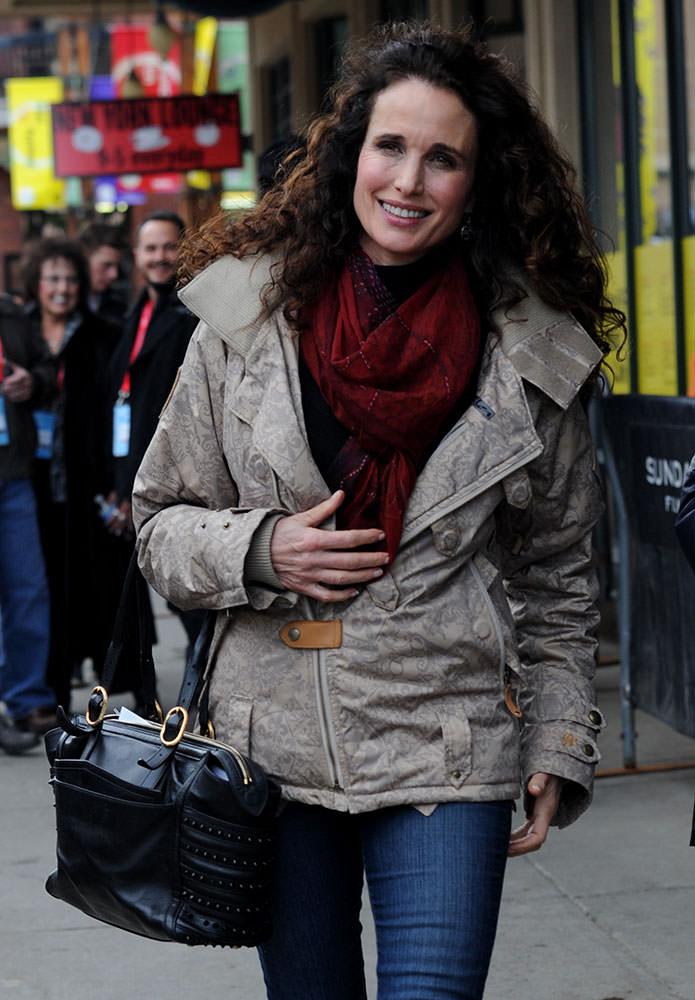 Andie-MacDowell-Christian-Louboutin-Farida-Bag