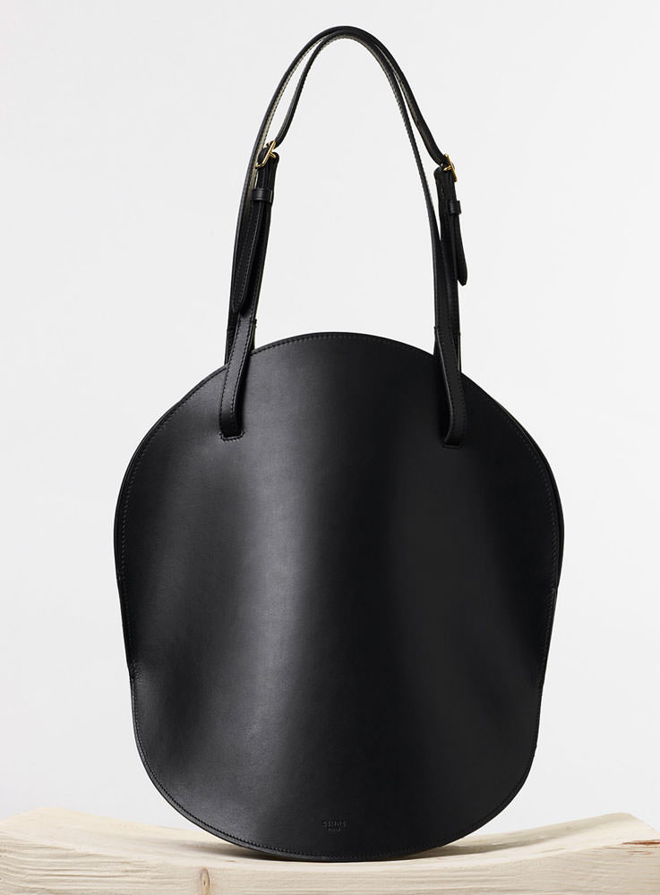 Celine-Curved-Shoulder-Bag-Black-2350