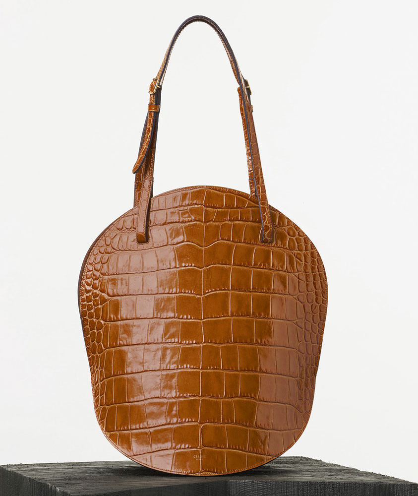 Celine-Curved-Shoulder-Bag-Tan-Crocodile