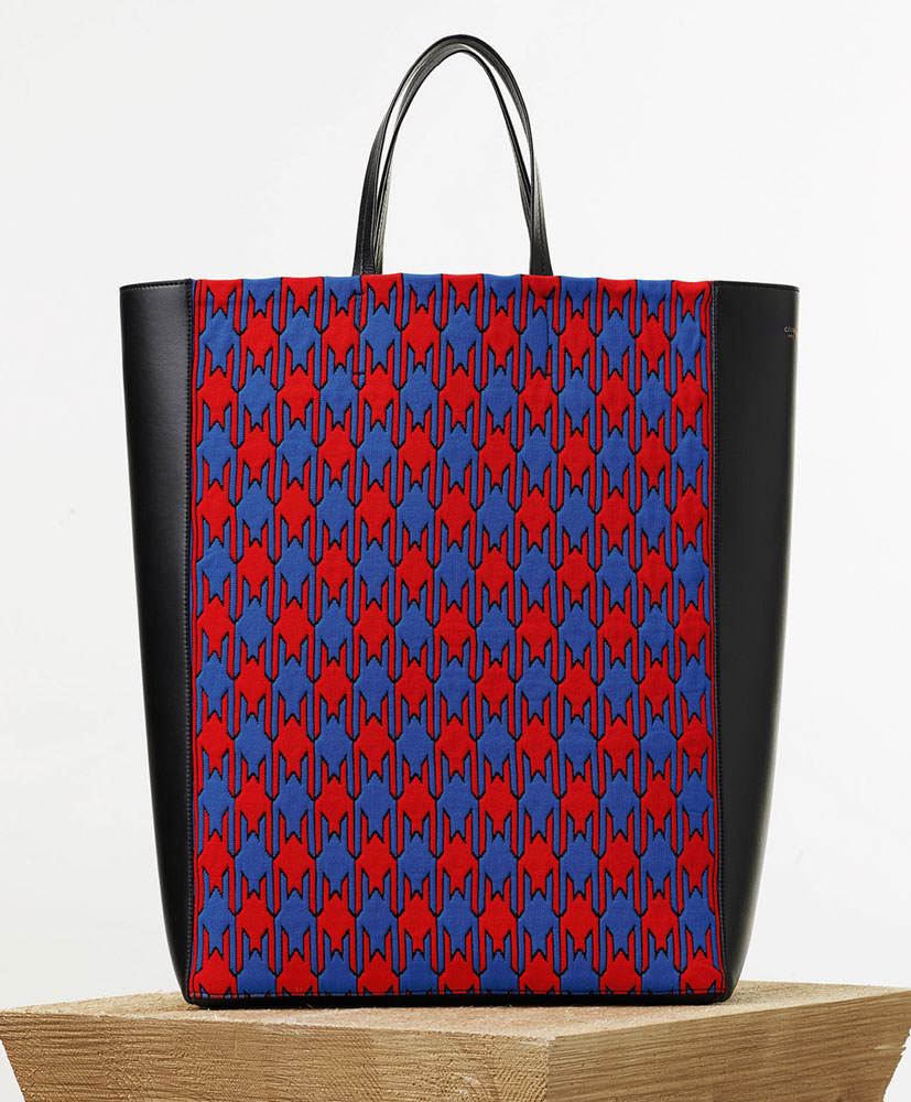 Celine-Houndstooth-Veritcal-Cabas-Tote-1550