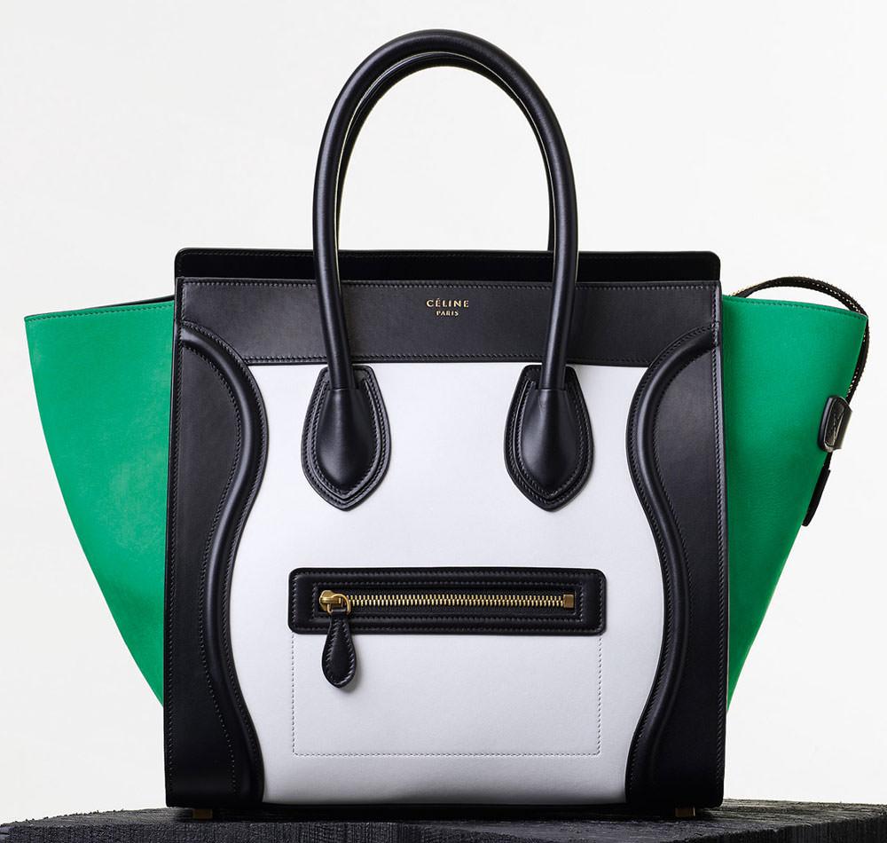 Celine-Mini-Luggage-Tote-Tricolor-Green-3450