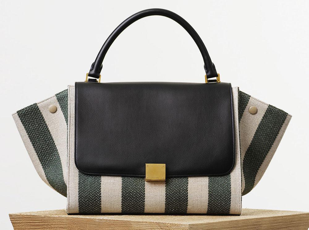 Celine-Small-Trapeze-Bag-Striped-Linen-2050