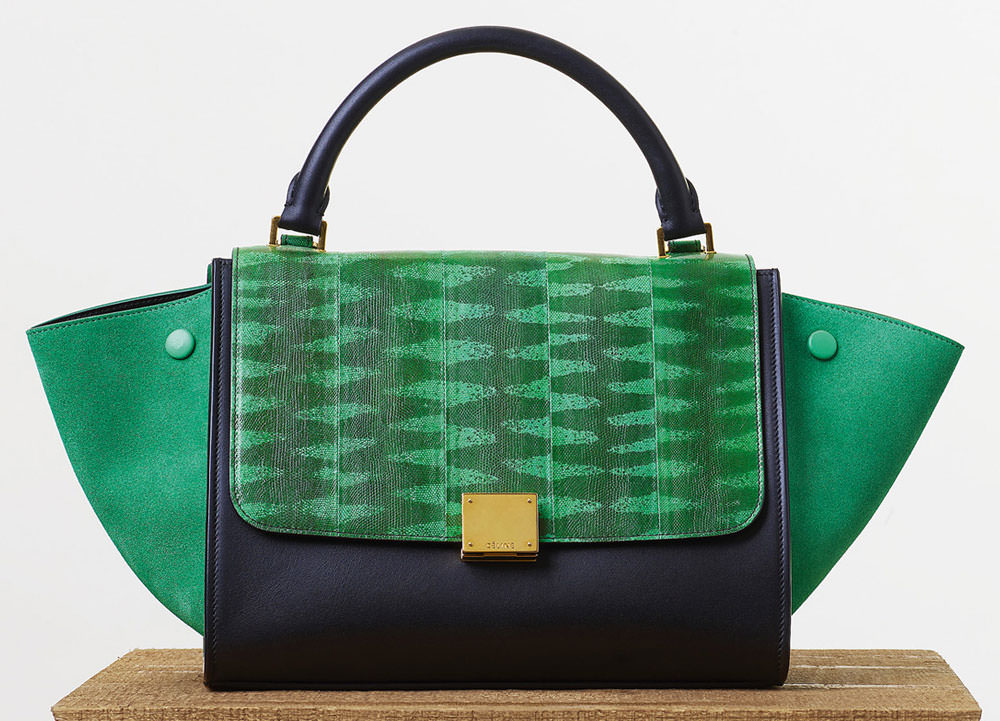 Celine-Small-Trapeze-Green-Tigersnake