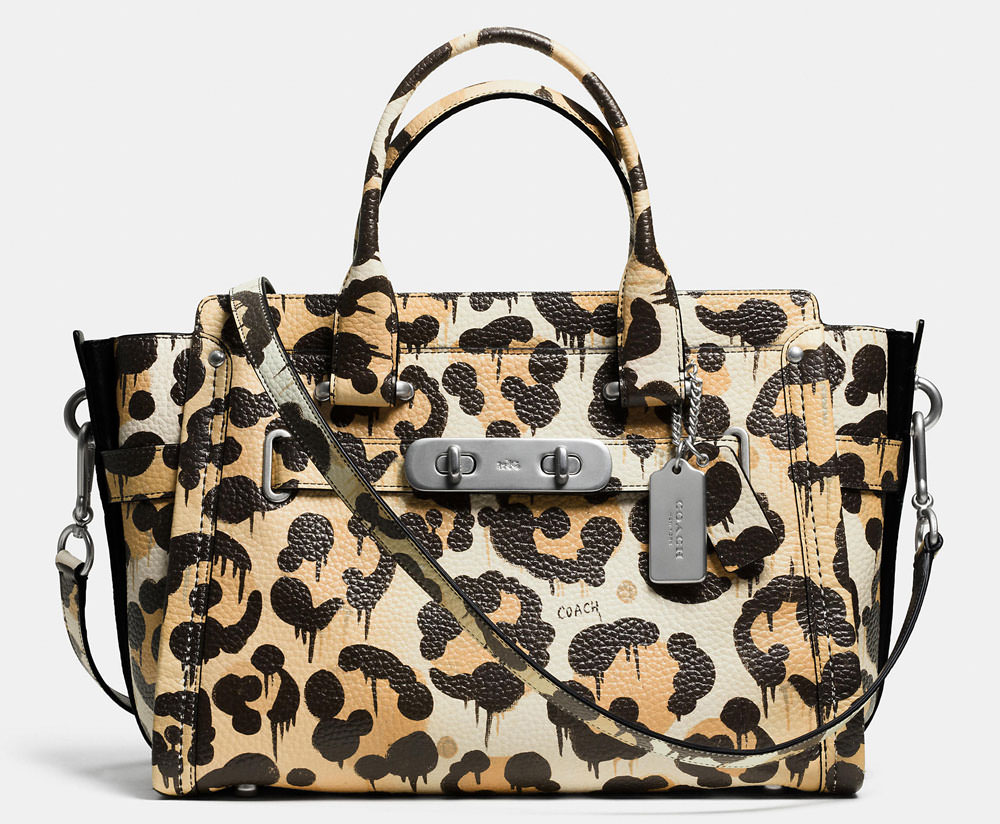 closeout coach purse leopard 69136 1e696