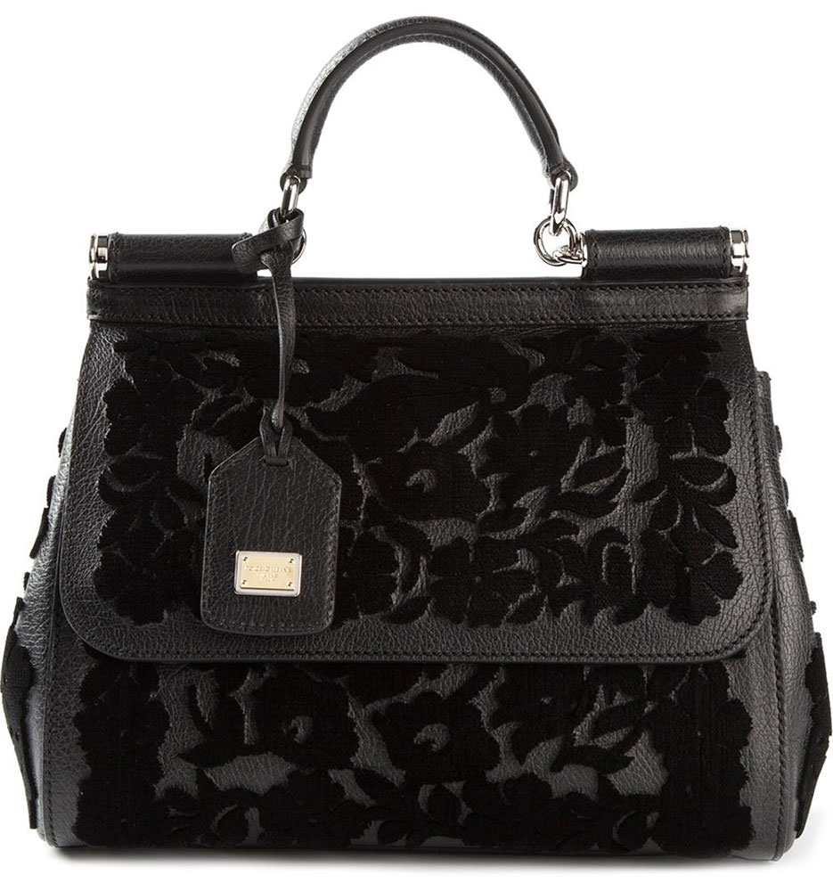 Dolce-&-Gabbana-Flocked-Sicily-Bag