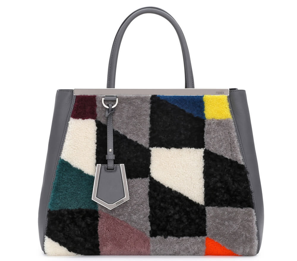 Fendi 2Jours Shearling Tote Bag