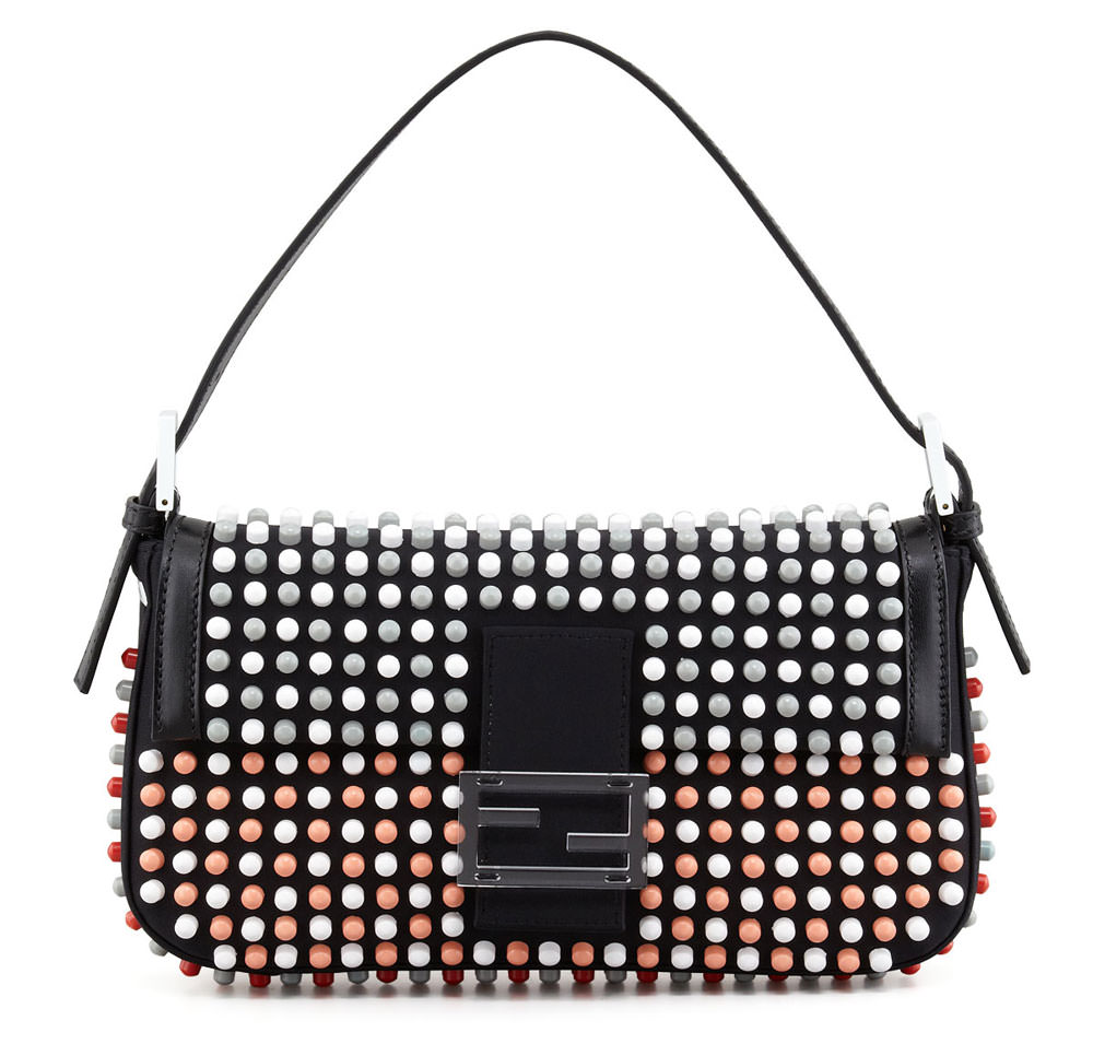 Fendi-Studded-Baguette-Bag