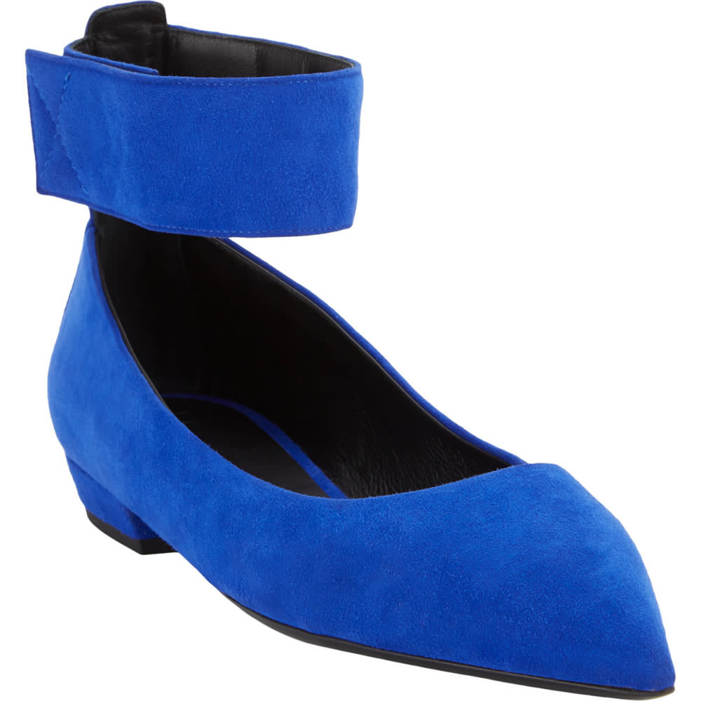 Giuseppe Zanotti Suede Ankle-Strap Skimmers