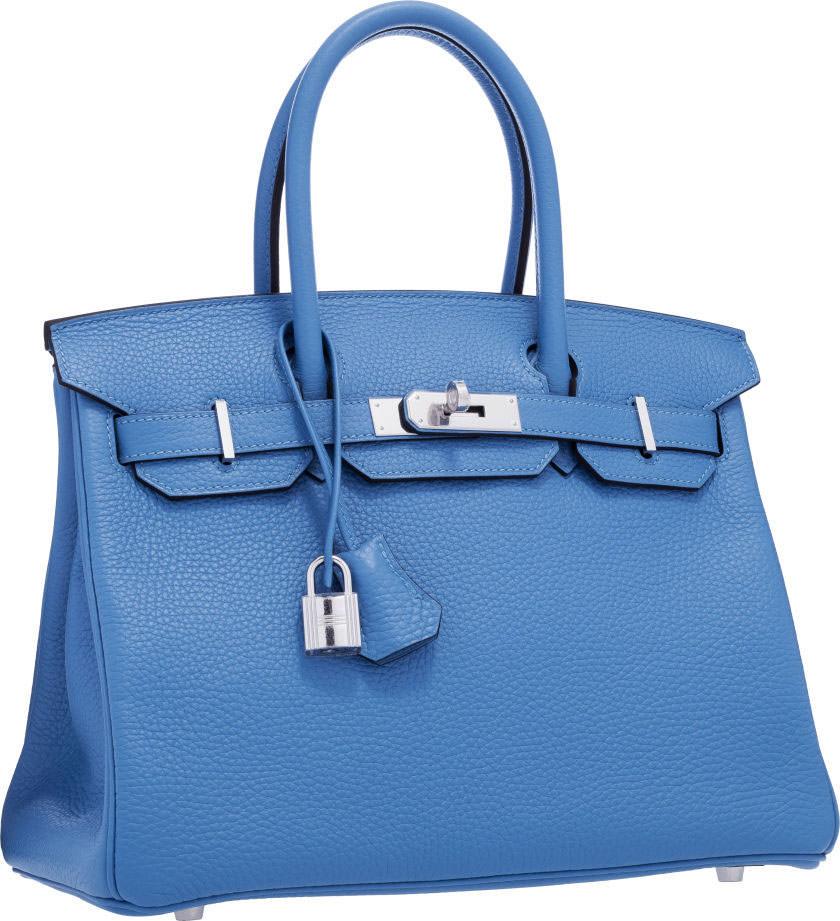 Hermes-Birkin-Blue-Paradis-Togo-Leather-30cm-
