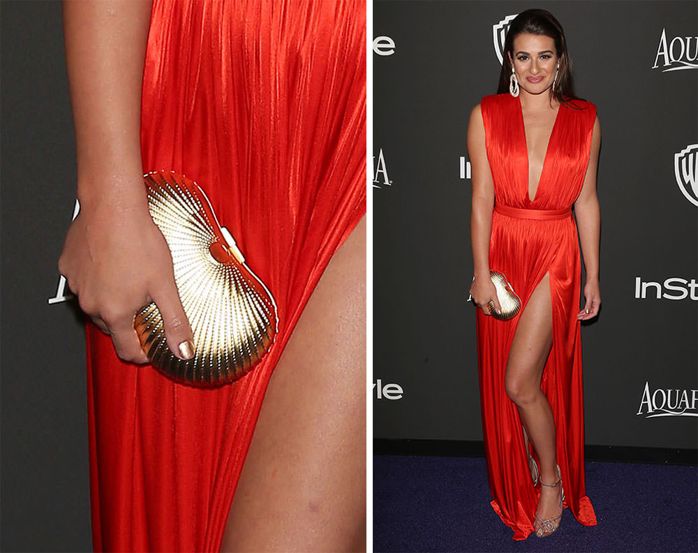 Lea-Michele-Gold-Clutch