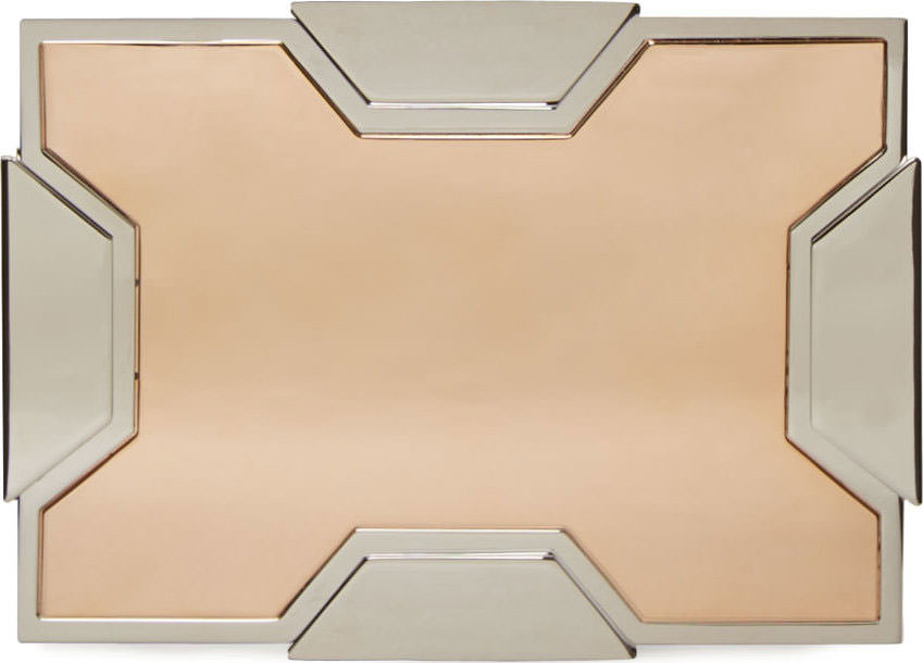Lee-Savage-Silver-and-Rose-Gold-Small-Space-Clutch