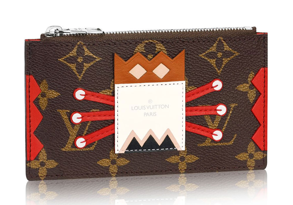 Louis-Vuitton-Tribal-Mask-Key-Pouch-Red