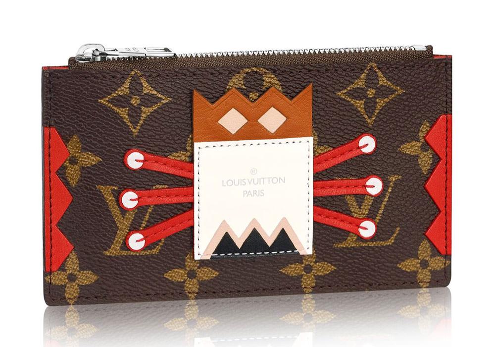 Louis-Vuitton-Tribal-Mask-Key-Pouch-Red
