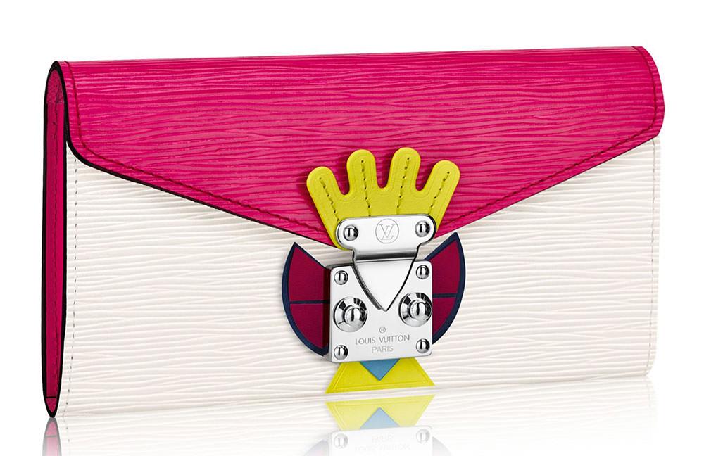 Louis-Vuitton-Tribal-Mask-Sarah-Wallet-Pink