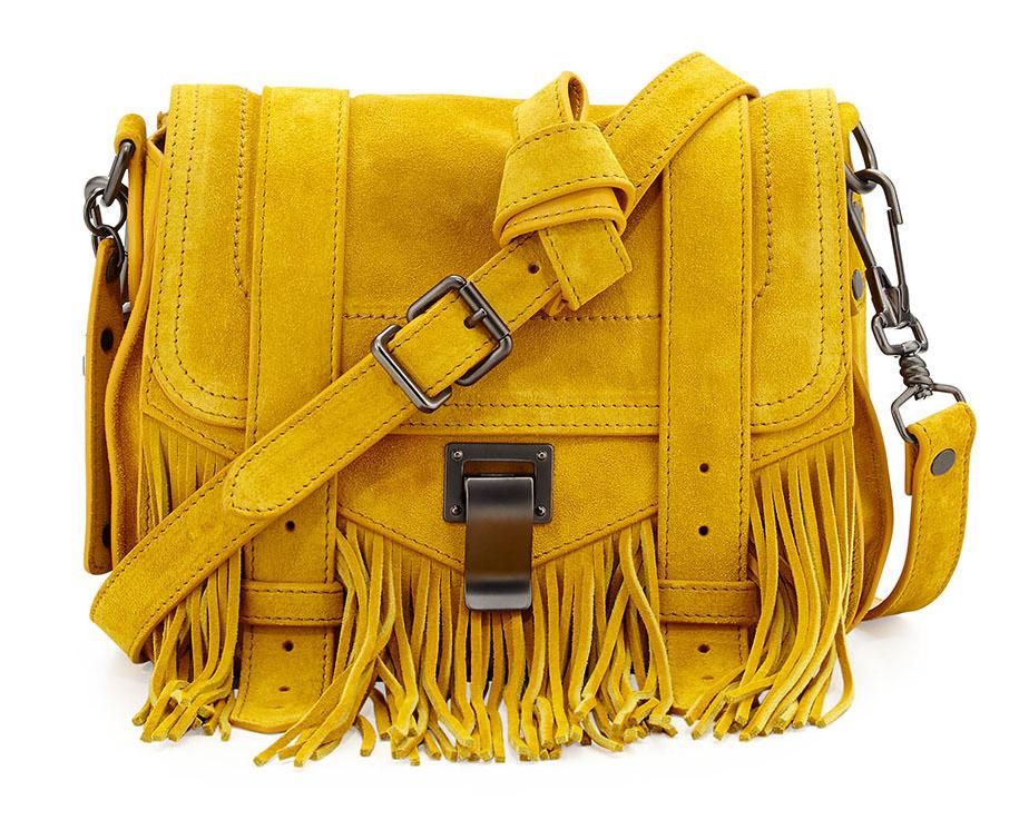 Proenza Schouler PS1 Suede Fringe Bag