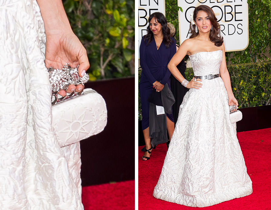 Salma-Hayek-Alexander-McQueen-Moon-and-Star-Knuklebox-Clutch