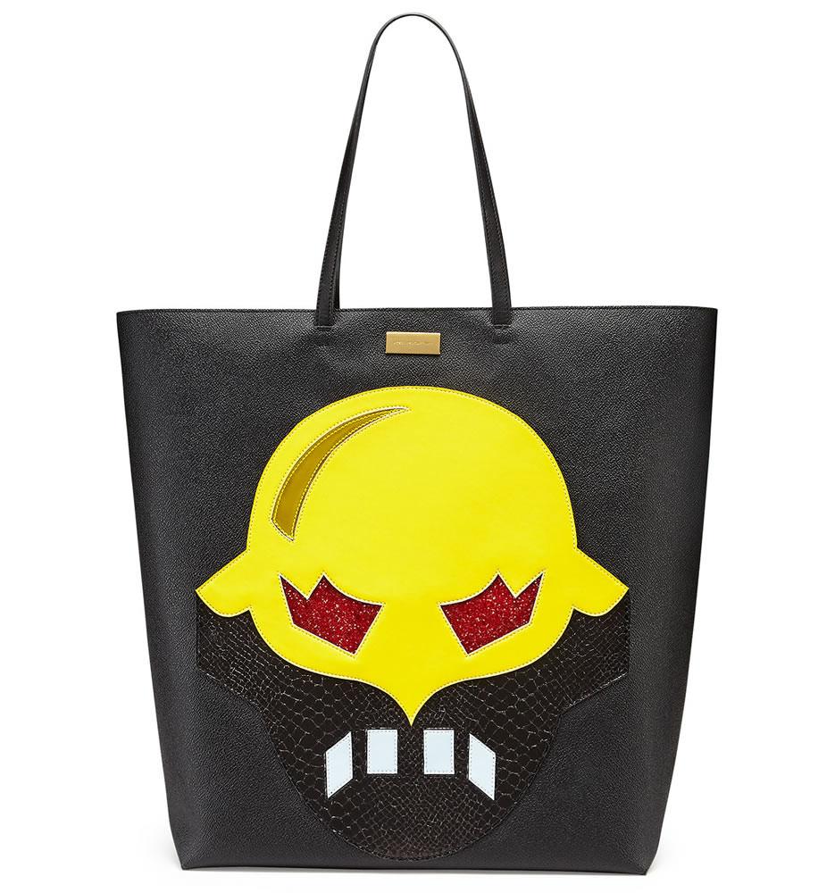 Stella McCartney  Superhero Structured Tote Bag Black