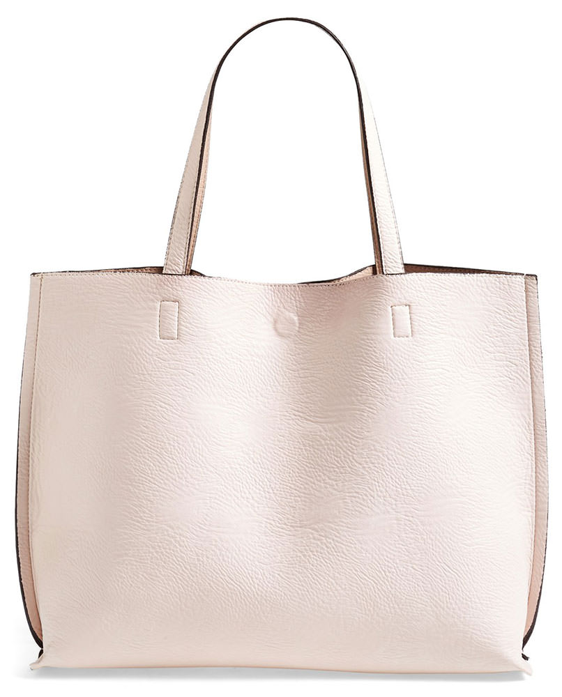 Street Level Reversible Vegan Leather Tote 48 Via Nordstrom