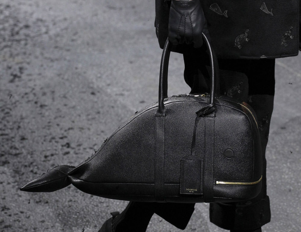 d995700b7763 Man Bag Monday  Thom Browne s Dark