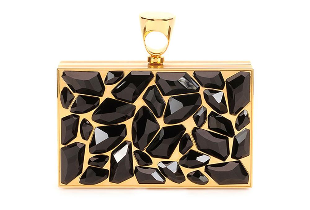 Tom Ford Crystal Brass Ring Clutch Bag