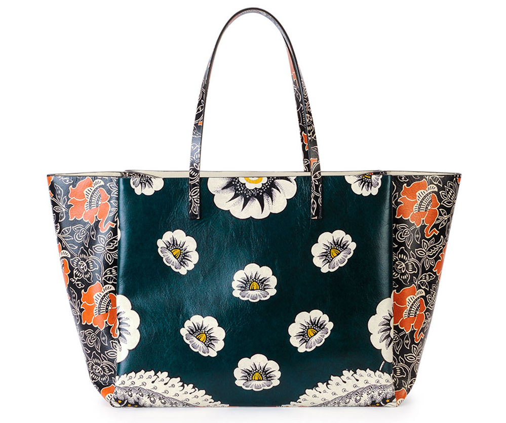 Valentino-Mixed-Floral-Tote-Green