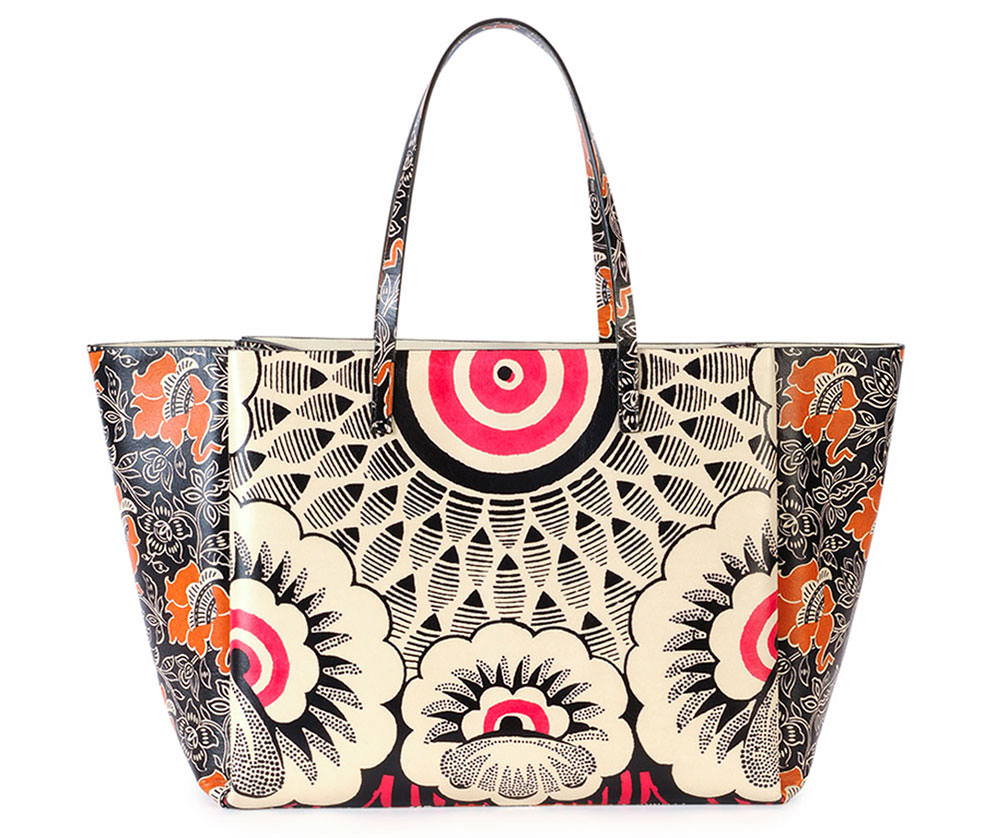 Valentino-Mixed-Floral-Tote-Red