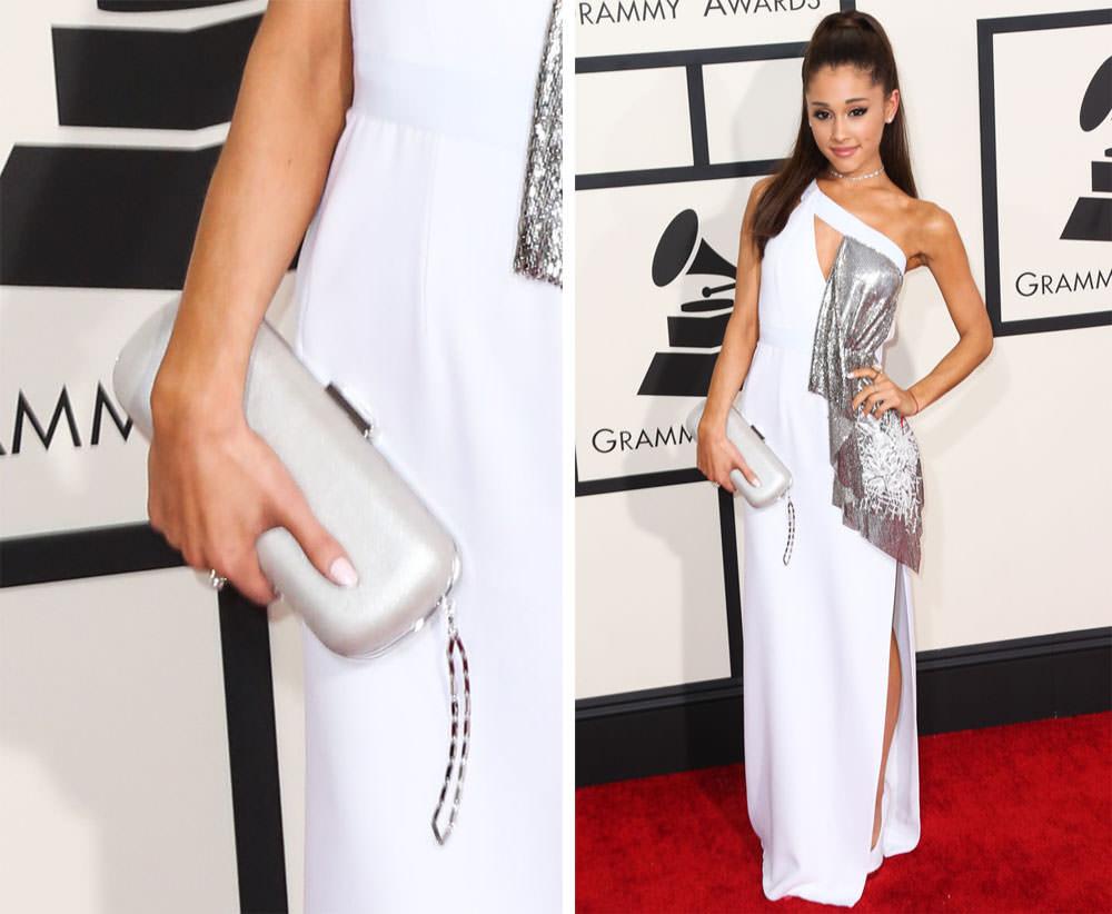 Ariana-Grande-White-Clutch