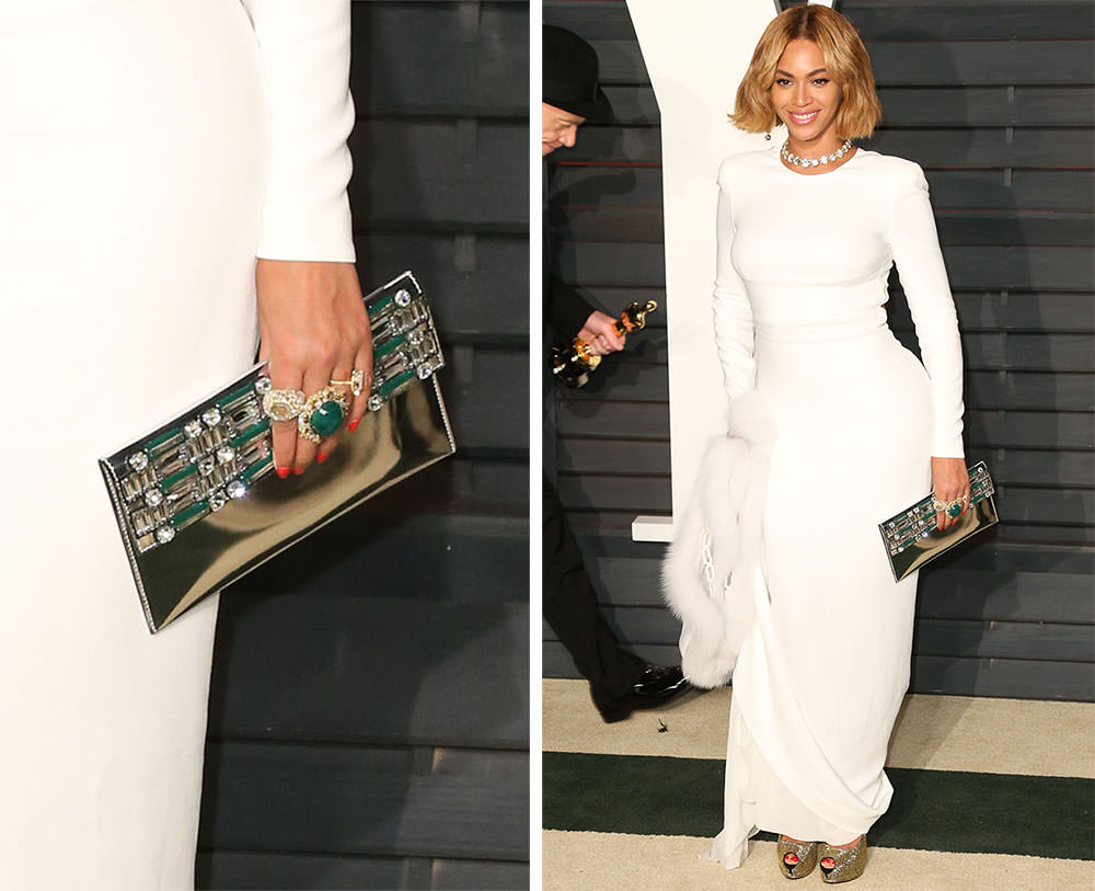 Beyonce-Silver-Jeweled-Clutch