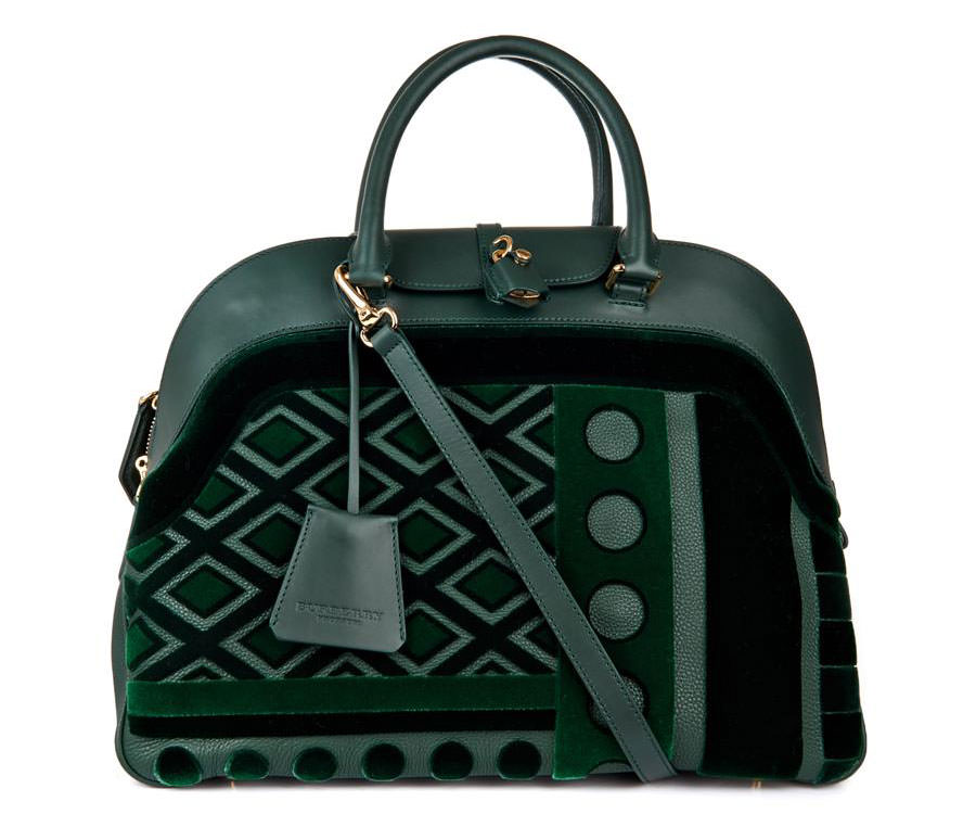 Burberry-Prorsum-Velvet-and-Leather-Bowling-Bag