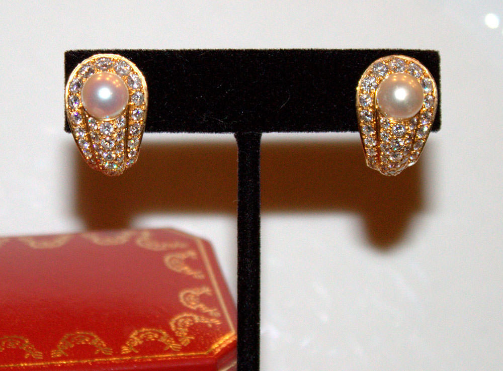 Cartier-Diamond-and-Pearl-Earrings
