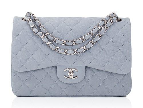 Chanel-Caviar-Classic-Flap-Bag-Light-Blue - PurseBlog 8f11afee8