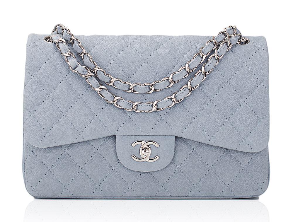 Chanel-Caviar-Classic-Flap-Bag-Light-Blue