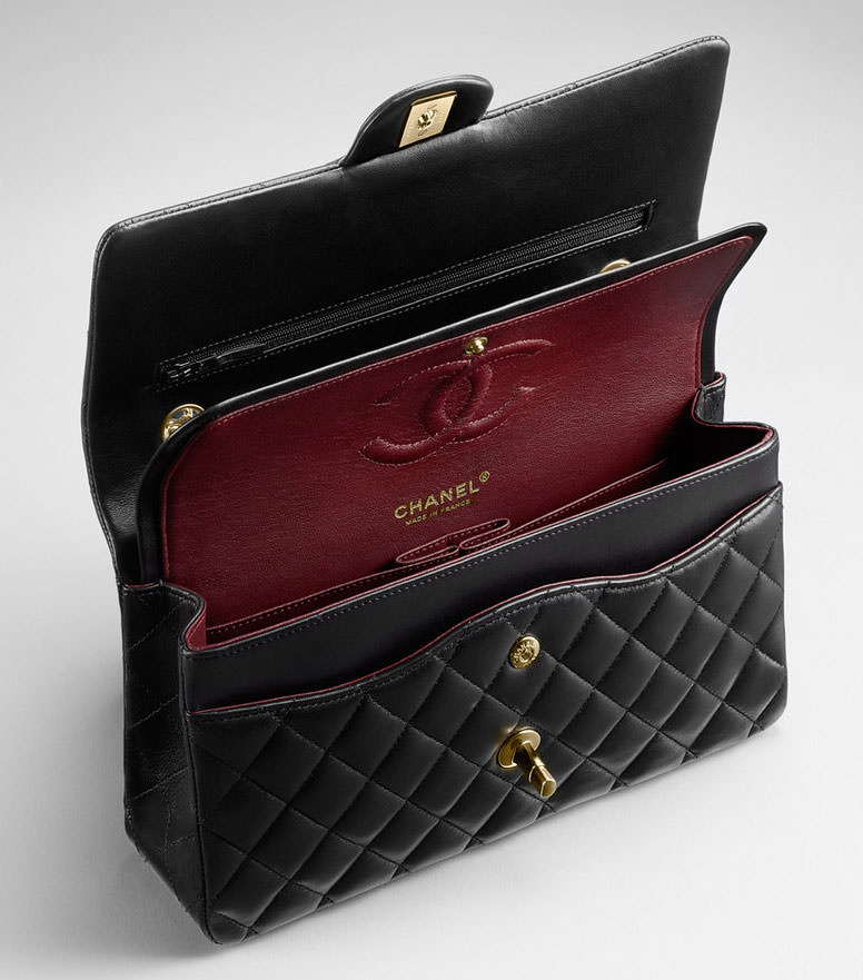 Chanel Classic Flap Bag Interior 1