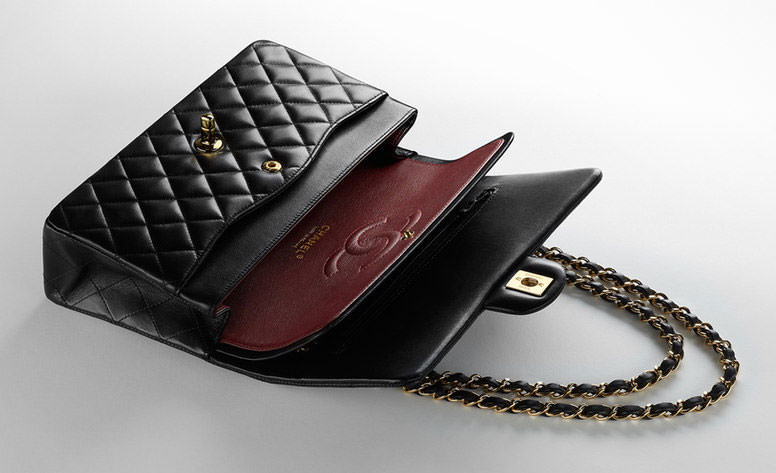 Chanel Classic Flap Bag Interior 2