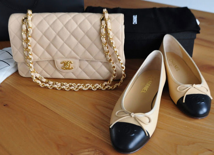 Chanel-Classic-Flap-Bag-and-Ballet-Flats
