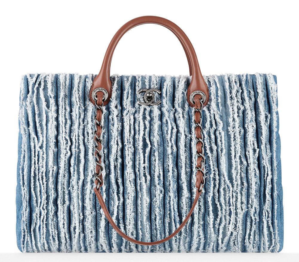 Chanel-Frayed-Denim-Shopping-Tote