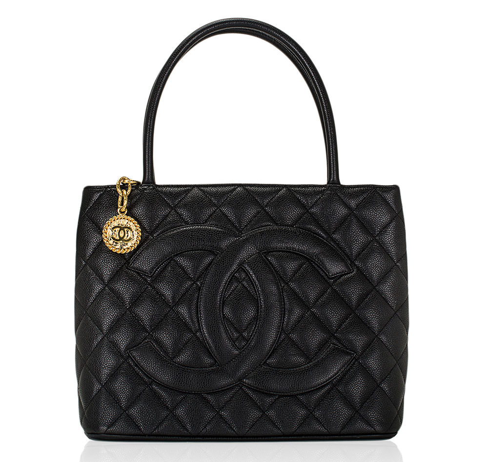 Chanel-Gold-Medallion--Tote