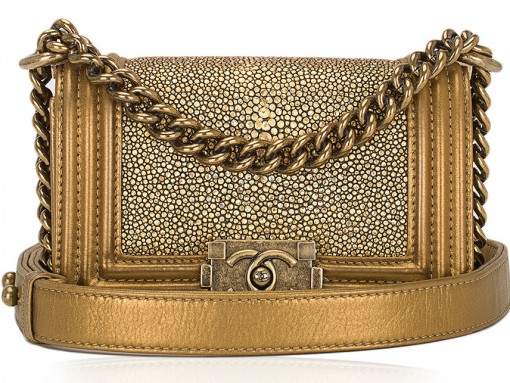 Chanel-Gold-Stingray-Boy-Bag