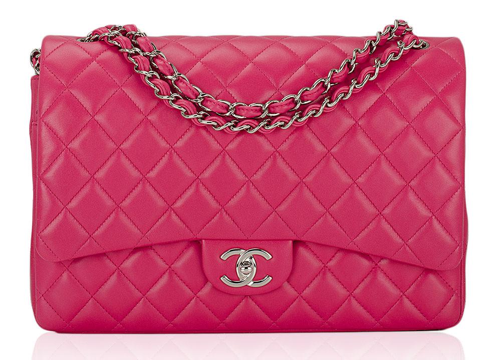 Chanel-Lambskin-Classic-Flap-Bag-Pink