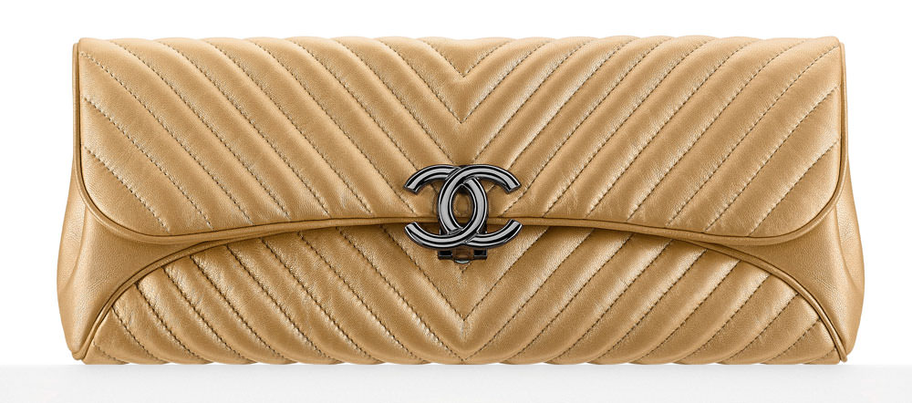 Chanel-Metallic-Chevron-Evening-Clutch