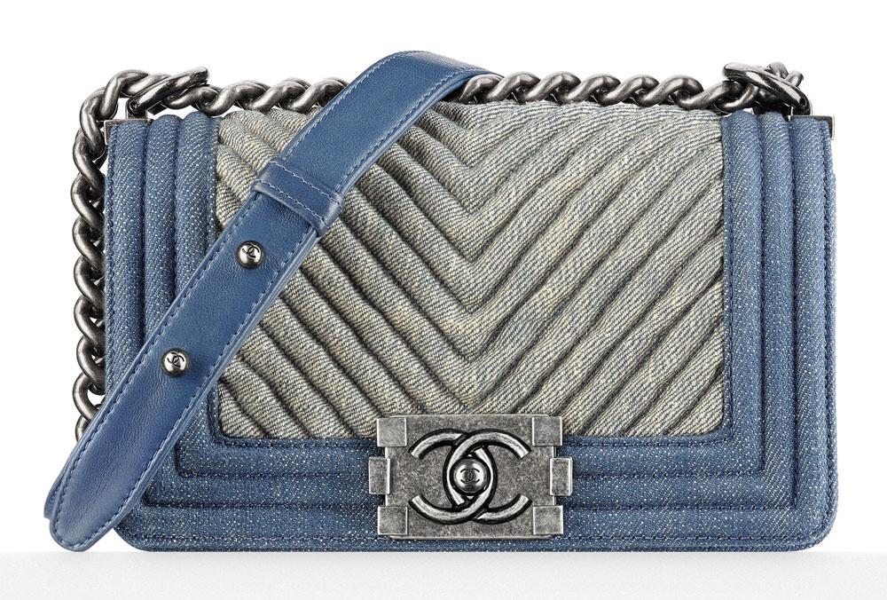 Chanel Small Denim Boy Bag