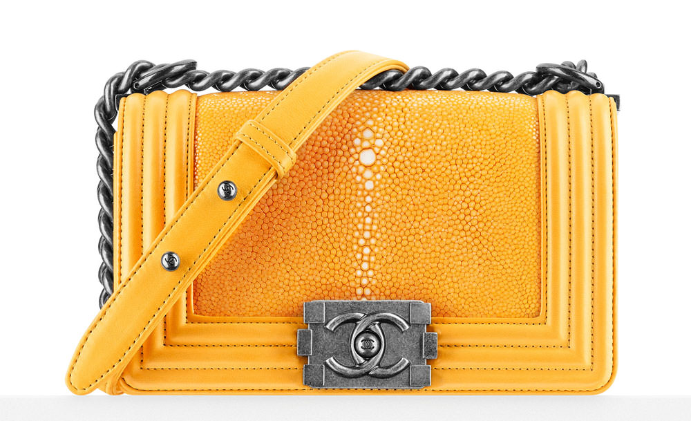 Chanel-Small-Stingray-Boy-Bag-Yellow