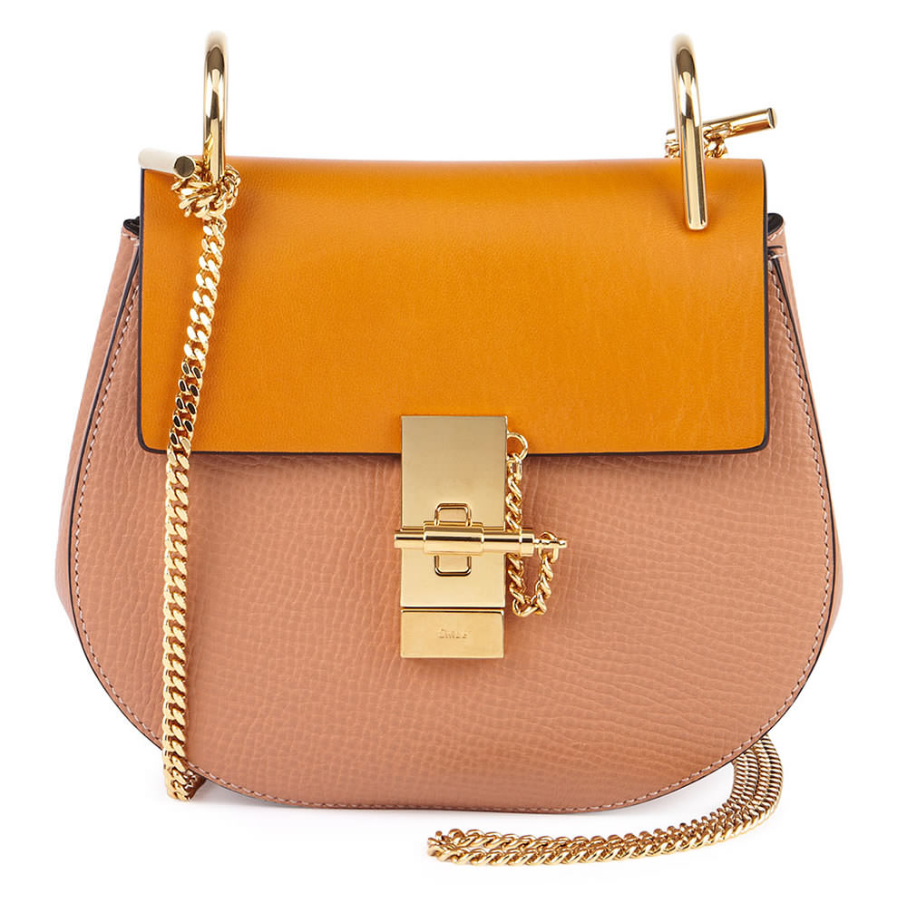 Chloe Drew Chain Shoulder Bag Sand Combo